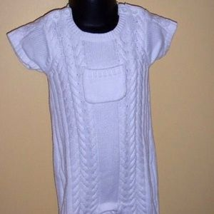 Baby Gap Newborn Knit White